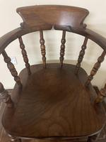Victorian Ash & Elm Smokers Chair (4 of 10)