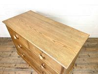 Antique Pale Oak Chest of Drawers (8 of 10)