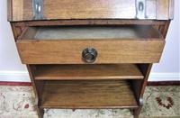 Arts & Crafts oak bureau bookcase (7 of 9)