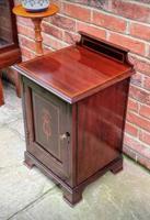 Edwardian Mahogany Wood Bedside Cabinet - Converted Purdonium (3 of 9)