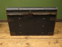 Antique Black Chest Trunk Storage Box, Steamer Trunk (3 of 13)