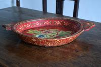 Large Scandinavian Painted Wooden Bowl (3 of 10)
