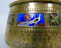 WMF Art Nouveau Planished Brass & Enamel Planter Jardiniere Albert Meyer (2 of 8)