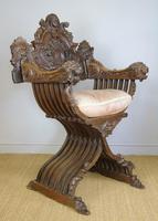 Outstanding Italian Walnut Savonarola Chair (5 of 12)