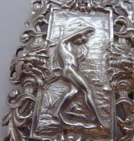 Rare Edwardian Shakespeare 1904 Hallmarked Solid Silver Nurses Belt Buckle (5 of 10)