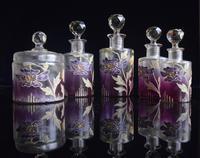 Moser Art Nouveau Enamelled Cameo Dressing Table Set (4 of 7)