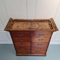 Large Antique Bank of Mahogany Drawers c.1880 (7 of 8)