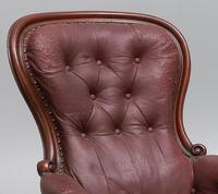 Victorian Leather Library Chair (5 of 5)