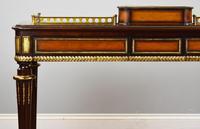 Mahogany & Satinwood Writing Table Stamped Edwards & Roberts (14 of 24)