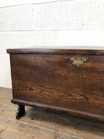 Small 18th Century Antique Elm Six Plank Coffer Chest (3 of 11)