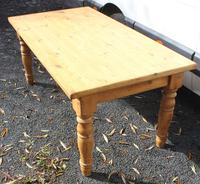 1940's Country Pine Dining Table with Turned Legs (2 of 3)