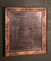Empire Period Distressed Painted Foxed Plate Mirror (3 of 10)