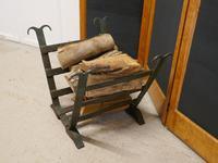 19th Century Blacksmith Made Inglenook Iron Log Carrier (6 of 7)