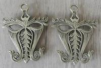 Pair of Aesthetic Movement Brass Flat Iron Trivets c.1880
