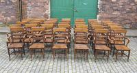 Rare Antique Set of 34 American Oak Chairs (2 of 15)