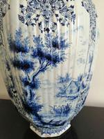 Imposing 19th Century Dutch Delft Blue & White Vase & Cover (5 of 15)