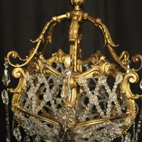 French Gilded Bronze Antique Chandelier (5 of 10)
