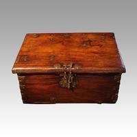 Antique merchant trunk