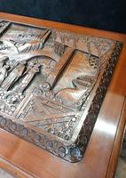 Oriental Carved Teak & Camphor Wood Chest - 1930s (6 of 15)