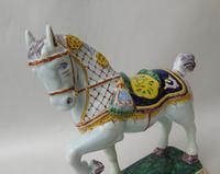 Rare Mid 19th Century Dutch Delft Ceremonial Horse (7 of 8)