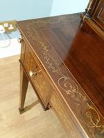 Victorian Mahogany And Inlaid Desk. (7 of 9)