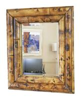 Bamboo Overmantle or Wall Mirror Mid 20th Century (2 of 5)
