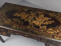 Chinese Gilded & Black Lacquered Desk (16 of 20)
