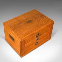 Antique Collector's Specimen Case, English, Oak, Chest, Jewellery Box, Edwardian (7 of 12)