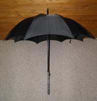 Vintage Indian Silver Black Canopy Umbrella With Bold Hindu God Themed Handle (2 of 11)