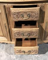Bow Front French Bleached Oak Enfilade (7 of 11)