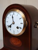 Mahogany Arch Top Mantel Clock (6 of 10)