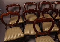 Good Set of 12 Victorian Mahogany Balloon Back Dining Chairs (2 of 8)