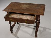 Late 17th / Early 18th Century Single Drawer Oak Side Table (5 of 6)