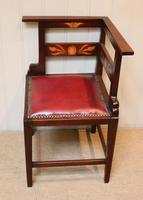 Mahogany Art Nouveau Corner Chair c.1900 (2 of 8)