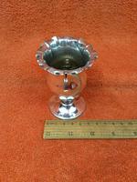 Antique Sterling Silver Hallmarked Tulip Vase 1900 Goldsmiths & Silversmiths Co Ltd 60g (6 of 9)
