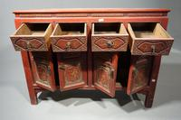 Finely Carved Early 20th Century Oriental Sideboard (2 of 6)