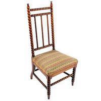 Victorian Walnut 'Bobbin' Turned Chair