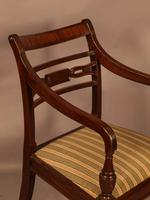 Rare Set of 10 Regency Period Mahogany Dining Chairs (10 of 17)