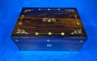 William IV Rosewood Jewellery Box With Mother Of Pearl Inlay (12 of 17)