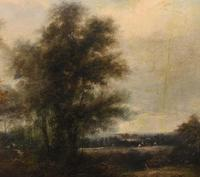 Victorian Oil Painting English Norfolk Landscape Rustic c.1860 Arcadia (15 of 17)