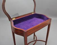 Edwardian Inlaid Satinwood Bijouterie Table (3 of 10)