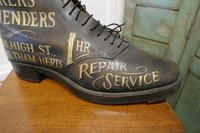 Edwardian Shoe Shop or Cobblers Trade Sign, Leather Boot Display Model (6 of 11)