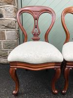 Antique Set of 4 Mahogany Balloon Back Dining Chairs (5 of 11)