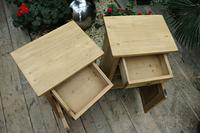 Fabulous! 'Chunky' Pair of Old Pine Bedside Cabinets - We Deliver! (5 of 8)