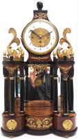 Superb Early Viennese Biedermeier Grand Sonnerie Mantel Clock Striking 2 gongs signed Rettich in Wien (6 of 11)