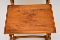Antique Georgian Style Yew Wood Nest of Tables (7 of 7)