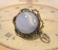 Vintage Pocket Watch Chain Fob 1950s Big Silver Nickel Victorian Revival Fob (2 of 8)