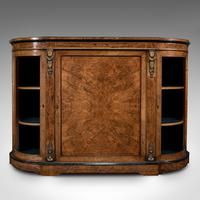 Antique Credenza, English, Burr Walnut, Sideboard, Display Cabinet, Regency (2 of 12)