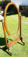 1930's Art Deco Oak  Cheval Mirror (12 of 18)