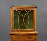 Edwardian Mahogany  Bowfront Display Cabinet (3 of 10)